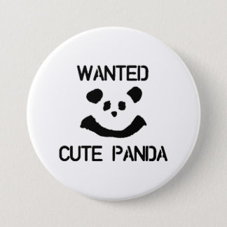 Wanted Cute Panda 7.5 Cm Round Badge