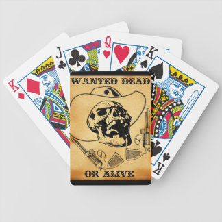 wanted dead or alive 1 bicycle playing cards