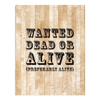 Wanted Dead or Alive 21.5 Cm X 28 Cm Flyer