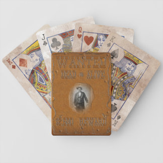 Wanted Dead or Alive Bicycle Playing Cards