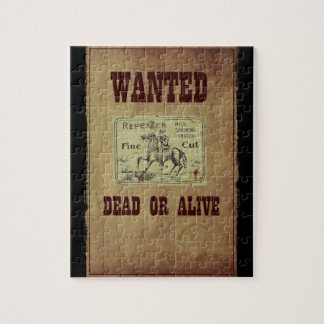 Wanted Dead or Alive Jigsaw Puzzle