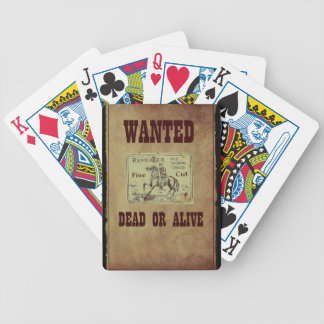 Wanted Dead or Alive Poker Deck