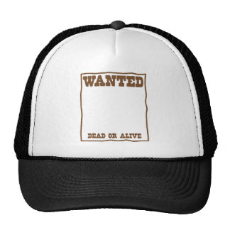 WANTED dead or Alive poster Cap