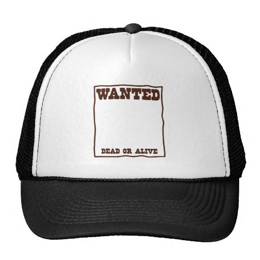 WANTED dead or Alive poster with blank background Mesh Hat