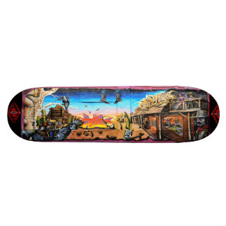 Wanted: Dead or Alive - Street Art Sk8 Deck 18.1 Cm Old School Skateboard Deck