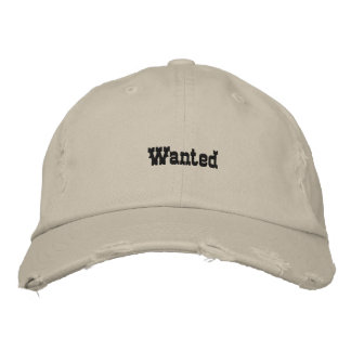 Wanted Embroidered Baseball Cap