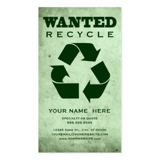 wanted : green corp pack of standard business cards