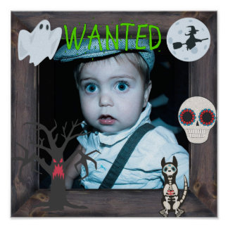 """Wanted"" Halloween Ghosts and Ghouls Poster"