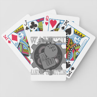 wanted manual or nothing(gearbox) bicycle playing cards