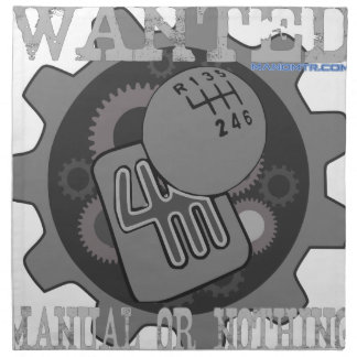 wanted manual or nothing(gearbox) napkin