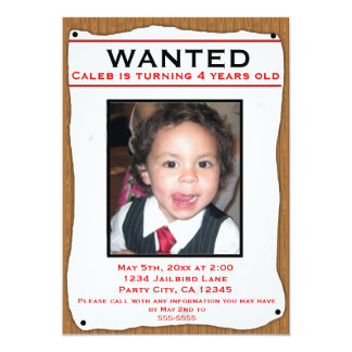 WANTED Old Western Photo flyer party invitation