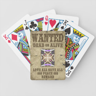 Wanted Peace Poker Deck