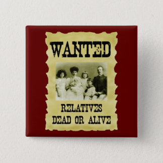 Wanted Poster 15 Cm Square Badge