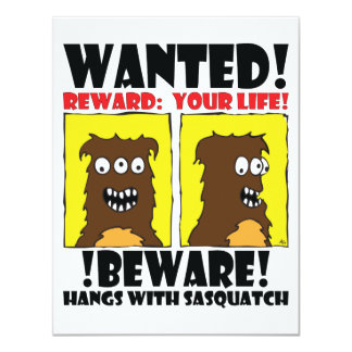 WANTED POSTER #4 INVITATIONS