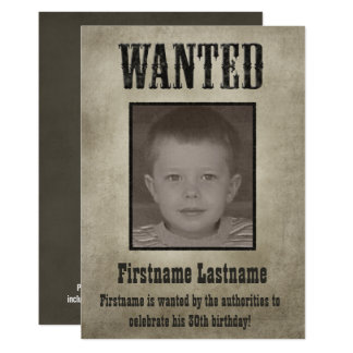 WANTED Poster Funny Birthday Card
