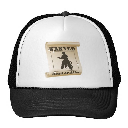 Wanted poster illustration trucker hats
