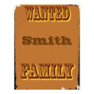 Wanted poster custom invites