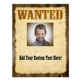 Wanted Poster Old-Time Photo Personalized Invitation