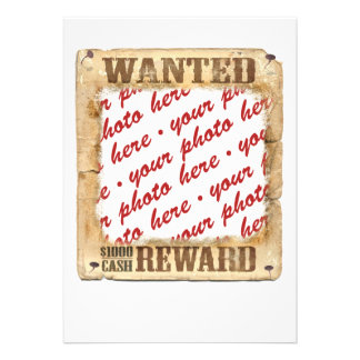 WANTED Poster Photo Frame Custom Announcements