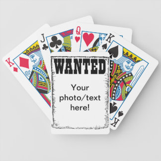 Wanted Poster playing cards