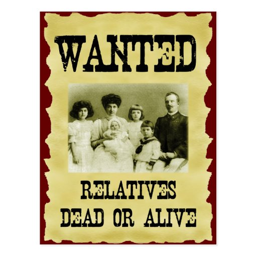 Wanted Poster Postcards