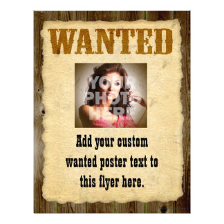 Wanted Poster, Vintage Picture Frame 21.5 Cm X 28 Cm Flyer