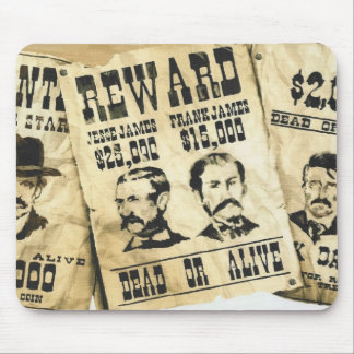 WANTED POSTERS  MOUSE PAD