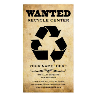 wanted : recycle center pack of standard business cards