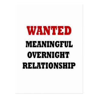 Wanted Relationship Postcards