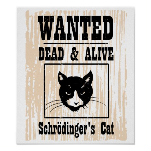 Wanted Schrodinger's Cat Poster