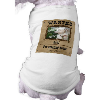 Wanted Wild West Poster Pet Custom Photo Template Pet T Shirt