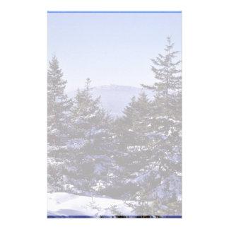 Wapack National Wildlife Refuge, winter scenic Customized Stationery