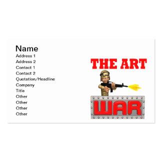 War Art Business Card Template