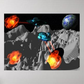 War at Moon Posters