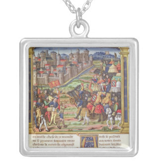 War between Charles the Bold Silver Plated Necklace