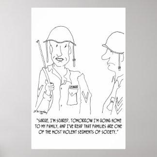 War Cartoon 0343 Poster