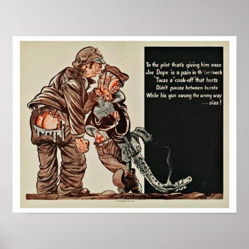 War Cartoon - Vintage Patriotism Poster