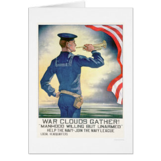 War Clouds Gather!  Join the Navy League (US02185) Card