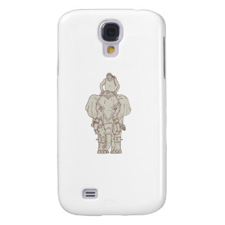 War Elephant Mahout Rider Drawing Samsung Galaxy S4 Covers