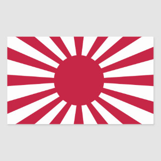 War Flag of Imperial Japan Japanese Rising Sun Rectangular Sticker