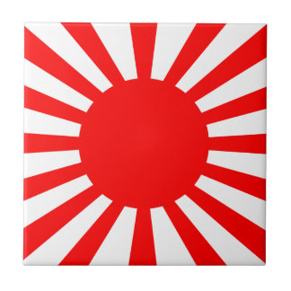 War Flag of the Imperial Japanese Army Ceramic Tile