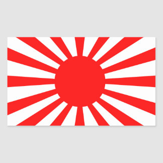 War Flag of the Imperial Japanese Army Rectangular Sticker