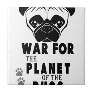 war for planet of pugs cool dog ceramic tile