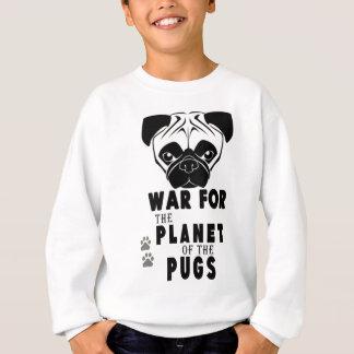 war for planet of pugs cool dog sweatshirt