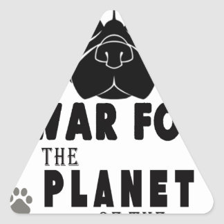 war for planet of pugs cool dog triangle sticker