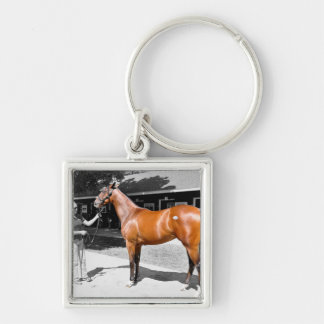 War Front - City Sister 700K Silver-Colored Square Key Ring