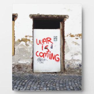 War Is Coming Plaque