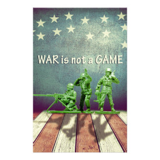 War is Not a Game Patriotic Design Personalized Stationery