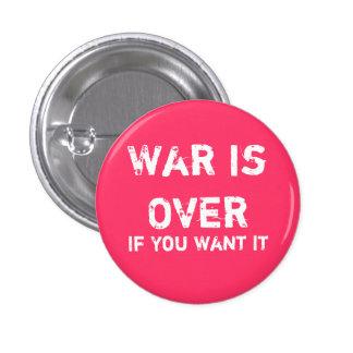 War is Over 3 Cm Round Badge