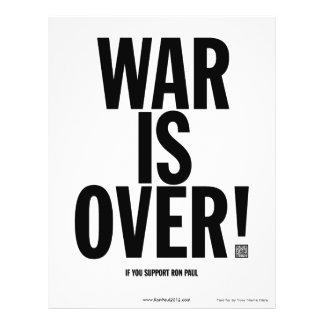 War Is Over Ron Paul Flyer
